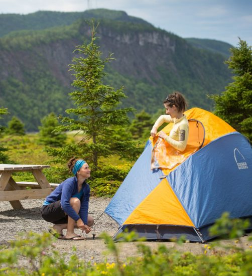 – Camping Parc national du Bic